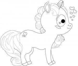 Gambar Mewarnai Unicorn Anak TK