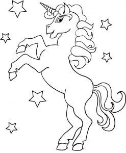 Gambar Mewarnai Unicorn Kuda