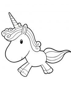 Gambar Mewarnai Unicorn Lucu