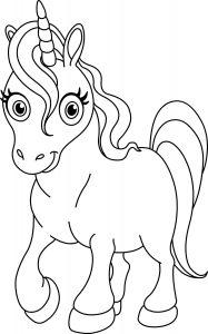 Gambar Mewarnai Unicorn Untuk Anak