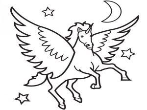 Gambar Mewarnai Unicorn Untuk Anak Anak