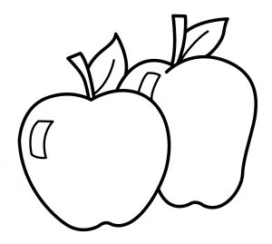 Gambar Mewarnai Buah Apel