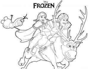 Mewarnai Frozen