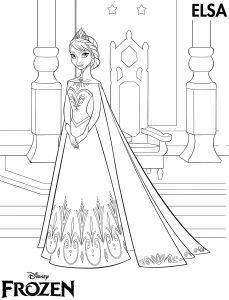 Mewarnai Frozen Elsa