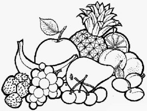 Gambar Mewarnai Buah-buahan