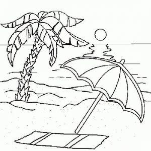 Mewarnai Gambar Pantai