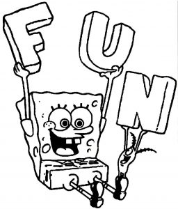 Mewarnai Gambar Spongebob Squarepants