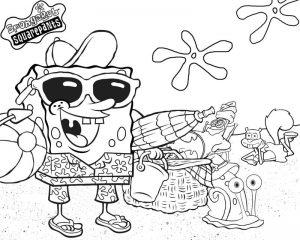 Mewarnai Gambar Spongebob Squarepants Anak TK
