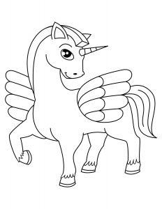 Mewarnai Gambar Unicorn Anak Anak