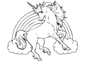 Mewarnai Gambar Unicorn Untuk Anak Anak