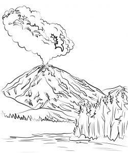 Mewarnai Gunung Merapi