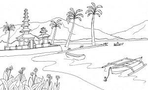 Mewarnai Pantai
