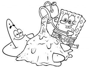 Mewarnai Patrick & Spongebob