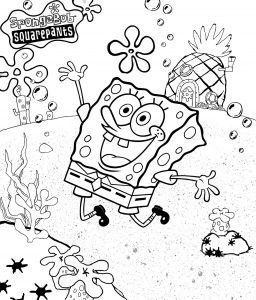 Mewarnai Spongebob