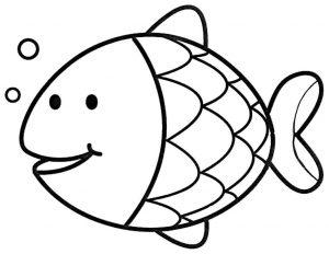 gambar mewarnai ikan ilustrasi