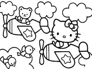 mewarnai gambar hello kitty anak