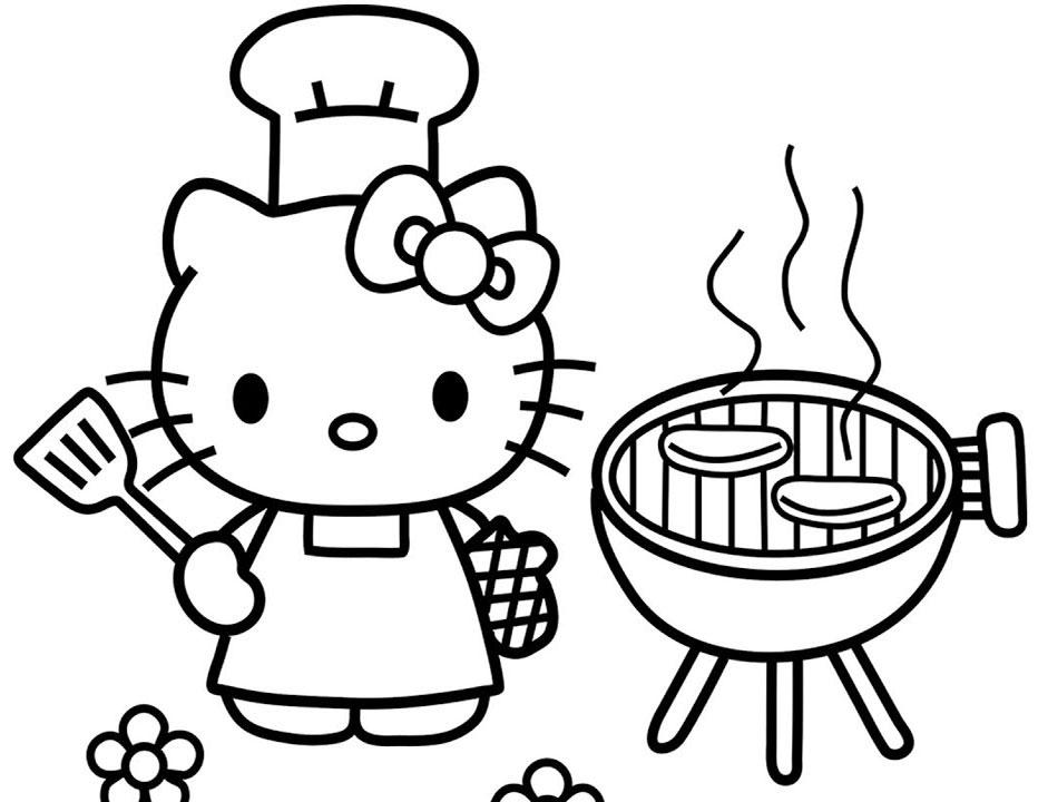 Kumpulan Gambar Mewarnai Hello Kitty Untuk Anak Sd Tk