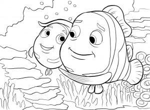 mewarnai gambar ikan untuk anak