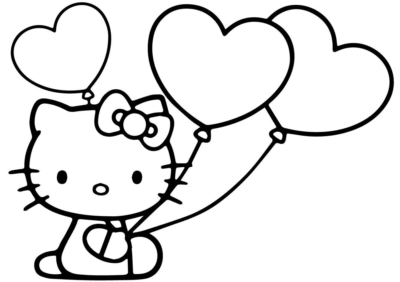 101+ Gambar Sketsa Hello Kitty Lucu HD