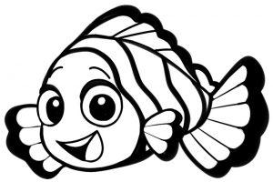 mewarnai ikan kartun
