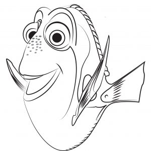 mewarnai ikan kartun anak