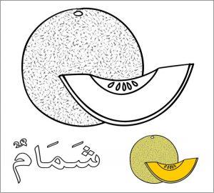 Gambar Mewarnai Buah Melon 4