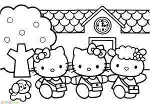 Gambar Mewarnai Hello Kitty 01 Marimewarnai