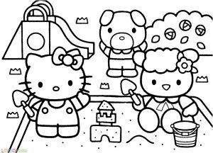 Gambar Mewarnai Hello Kitty 03 Marimewarnai