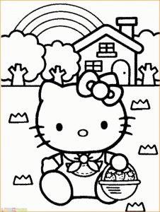 Gambar Mewarnai Hello Kitty 06 Marimewarnai