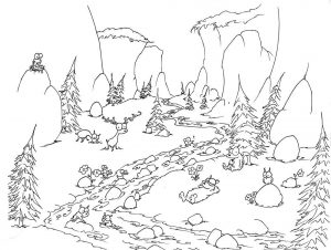 Gambar Mewarnai Hutan