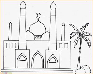 Gambar Mewarnai Masjid Nabawi 05 Marimewarnai