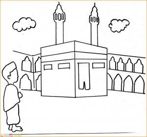 Gambar Mewarnai Masjid Nabawi 09 Marimewarnai