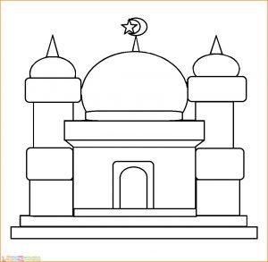 Gambar Mewarnai Masjid Nabawi 10 Marimewarnai