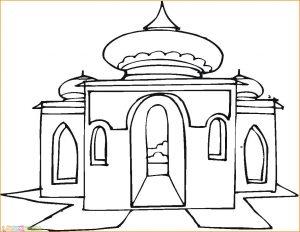 Gambar Mewarnai Masjid Nabawi 12 Marimewarnai