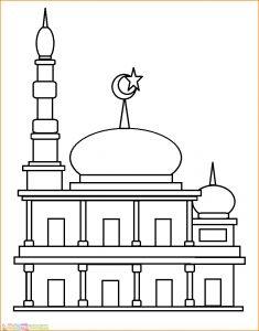 Gambar Mewarnai Masjid Nabawi 13 Marimewarnai