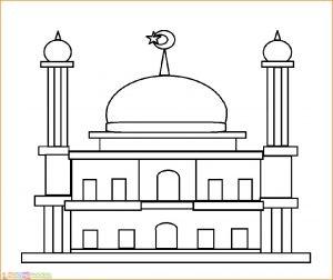Gambar Mewarnai Masjid Nabawi 14 Marimewarnai