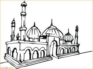 Gambar Mewarnai Masjid Nabawi 15 Marimewarnai