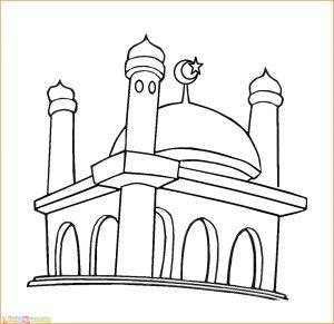 Gambar Mewarnai Masjid Nabawi 16 Marimewarnai