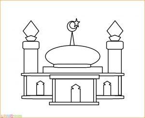 Gambar Mewarnai Masjid Nabawi 17 Marimewarnai