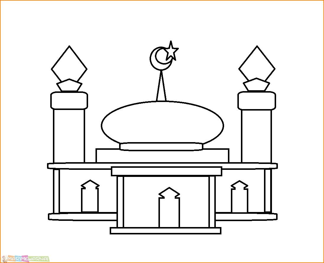 Gambar Mewarnai Masjid Nabawi