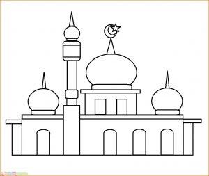 Gambar Mewarnai Masjid Nabawi 18 Marimewarnai