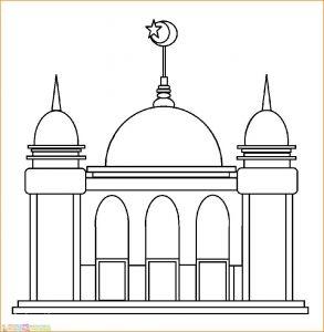 Gambar Mewarnai Masjid Nabawi 19 Marimewarnai
