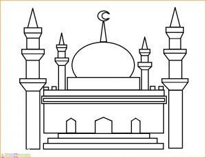 Gambar Mewarnai Masjid Nabawi 20 Marimewarnai