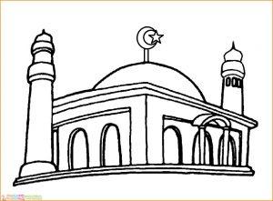 Gambar Mewarnai Masjid Nabawi 21 Marimewarnai