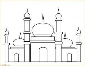 Gambar Mewarnai Masjid Nabawi 22 Marimewarnai