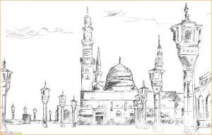 Gambar Mewarnai Masjid Nabawi 23 Marimewarnai