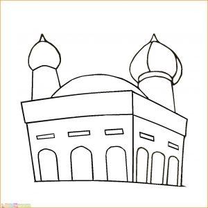 Gambar Mewarnai Masjid Nabawi 24 Marimewarnai