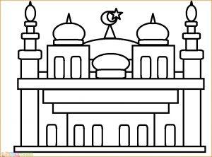 Gambar Mewarnai Masjid Nabawi 25 Marimewarnai