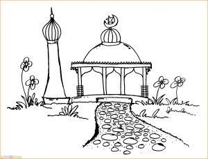 Gambar Mewarnai Masjid Nabawi 26 Marimewarnai