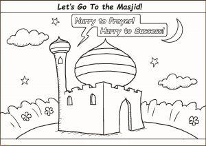 Gambar Mewarnai Masjid Nabawi 27 Marimewarnai